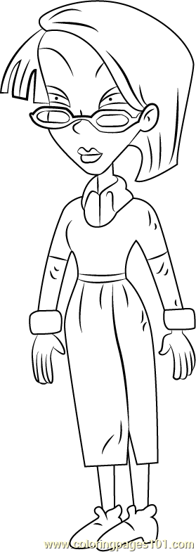 Kira Finster Coloring Page