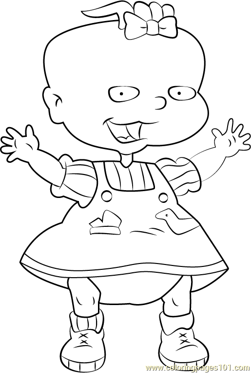 Lil Deville Coloring Page Free Rugrats Coloring Pages