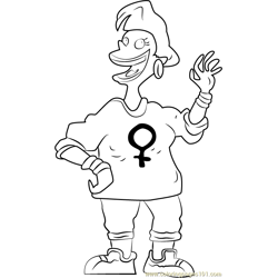 Betty DeVille Free Coloring Page for Kids