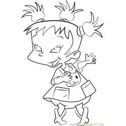 Kimi Finster Free Coloring Page for Kids