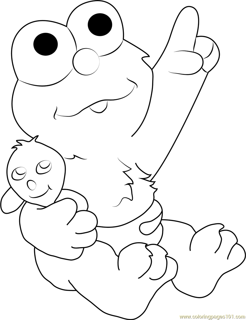 Coloring pages elmo