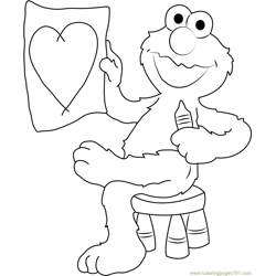 Elmo Draw Heart