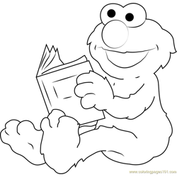 Elmo the Furry Red Monster Free Coloring Page for Kids