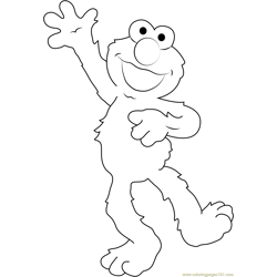 Elmo the Muppet Free Coloring Page for Kids
