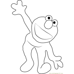Elmo's World Free Coloring Page for Kids