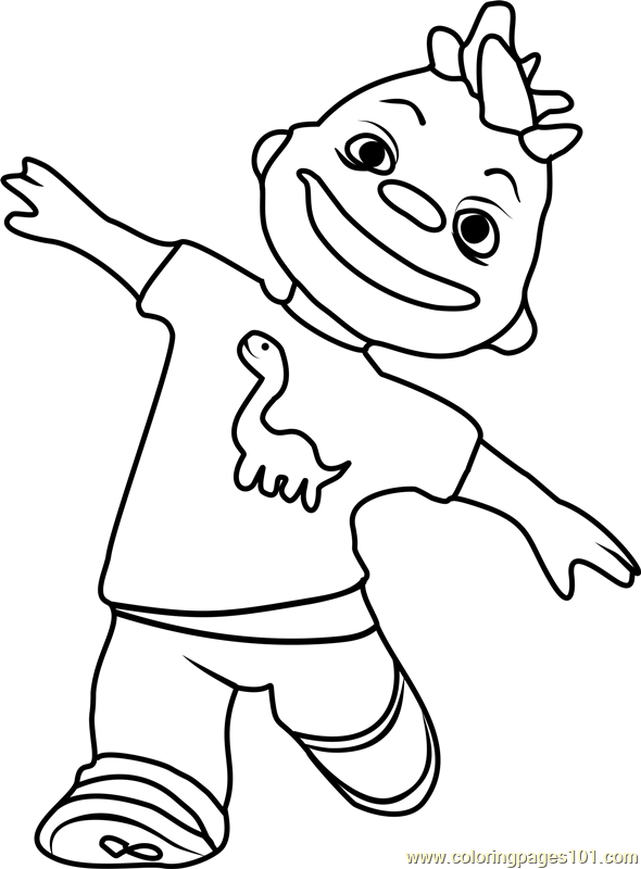Sid the science kid gerald printable coloring page gerald coloring page