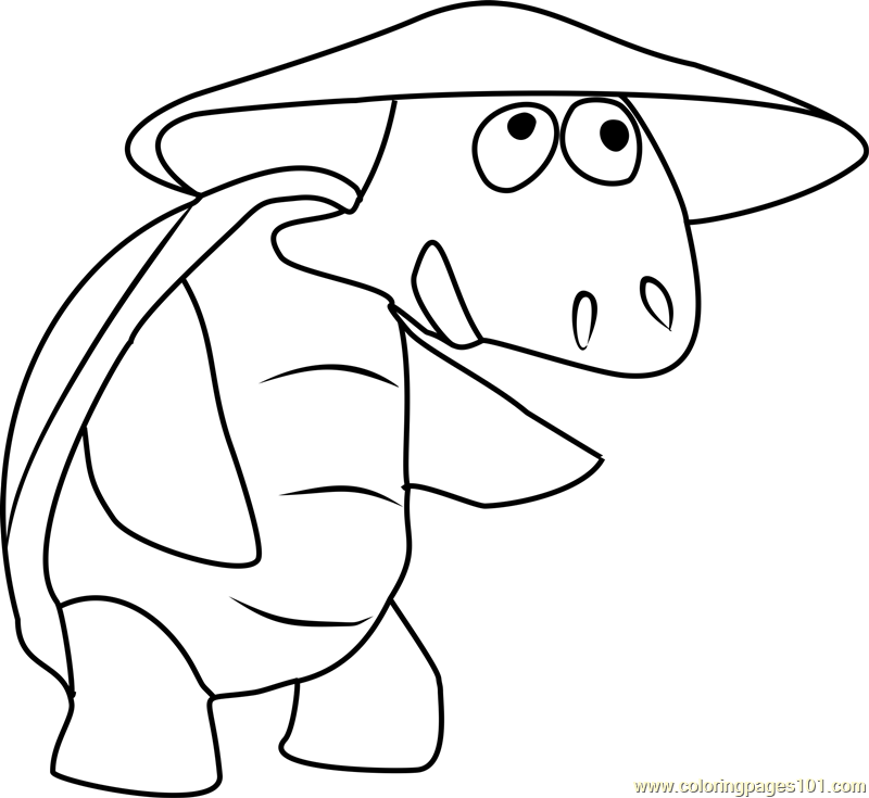 Dr Turtle Coloring Page