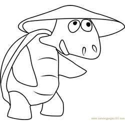 Dr Turtle Free Coloring Page for Kids