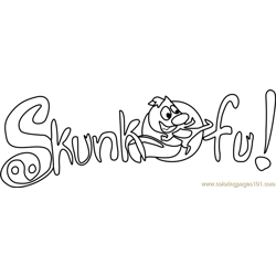 Skunk Fu! Free Coloring Page for Kids
