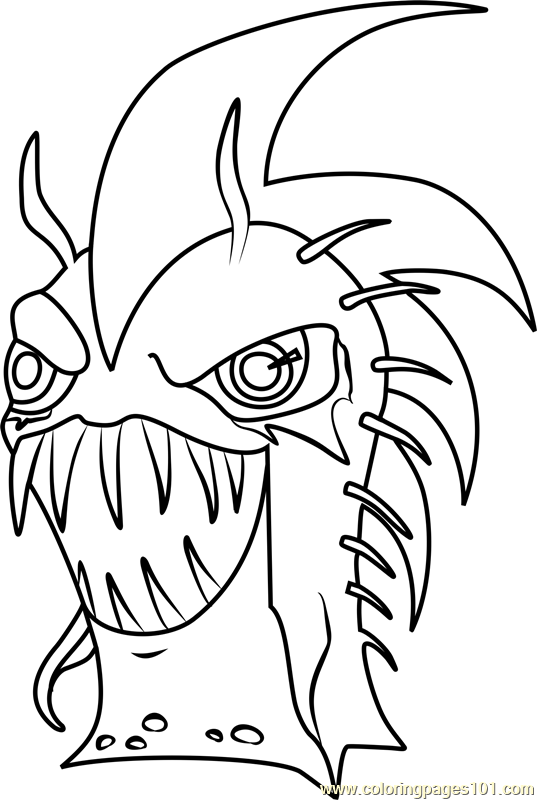 Dark Urchin Coloring Page