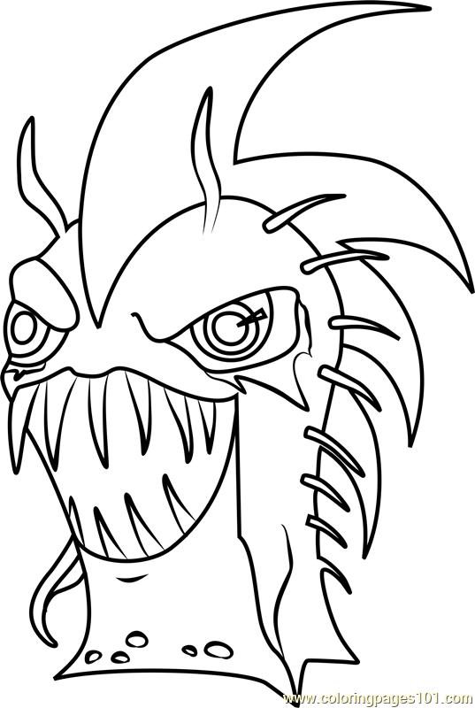 Dark Urchin Coloring Page - Free Slugterra Coloring Pages ...