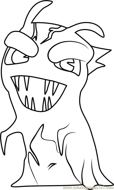 slugterra printable coloring pages creeper - photo#9