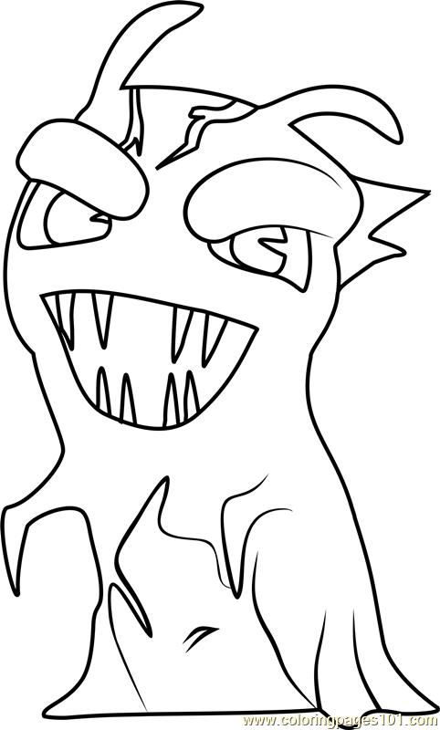 Darkfurnace coloring page free slugterra coloring pages for Slugterra coloring pages burpy
