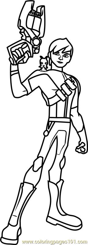 Eli Shane Coloring Page Free Slugterra Coloring Pages