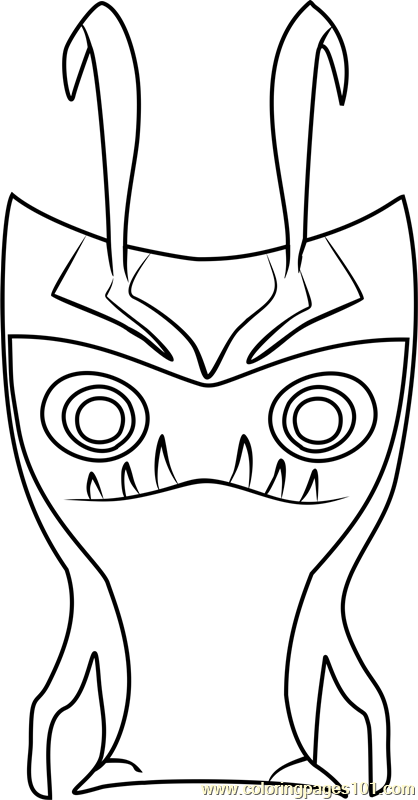 Grimmstone Coloring Page Free Slugterra Coloring Pages