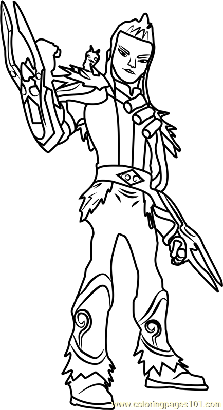slugterra coloring pages of joules - photo#30