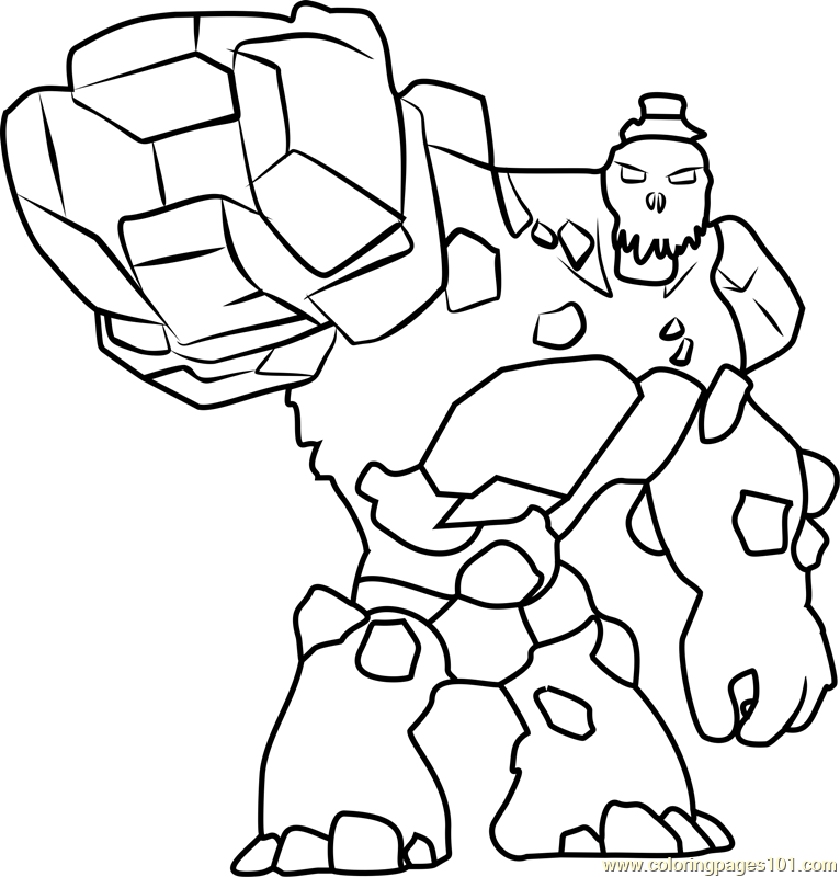 Stone Warriors Coloring Page