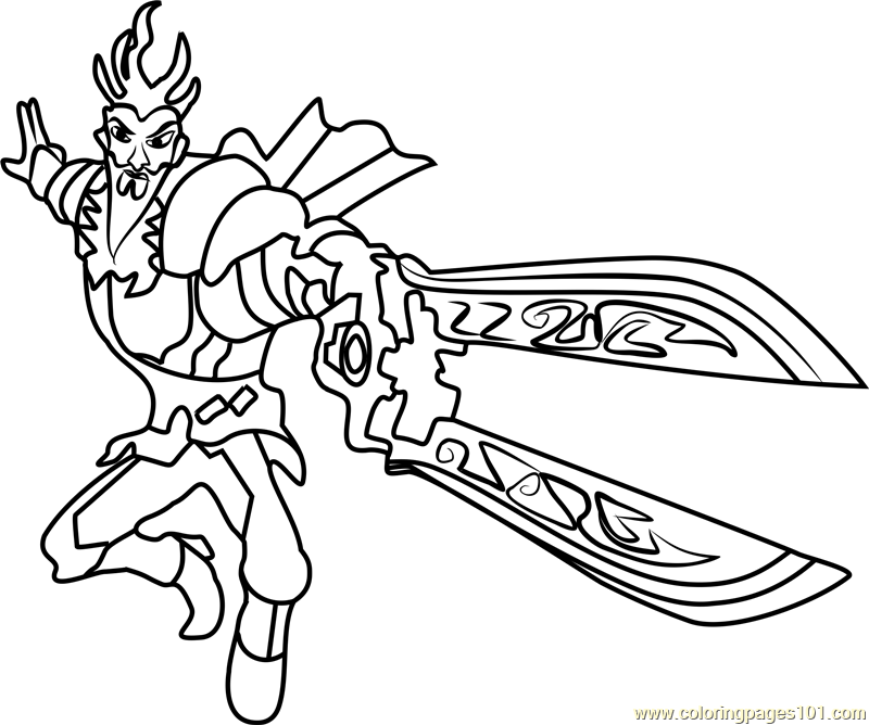 The Emperor Coloring Page Free Slugterra Coloring Pages