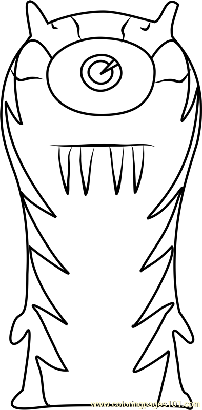 The Goon Coloring Page Free Slugterra Coloring Pages