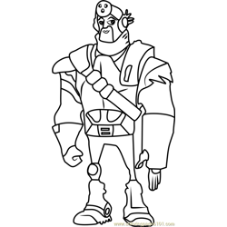 Mongo coloring page