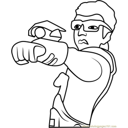 Quentin coloring page