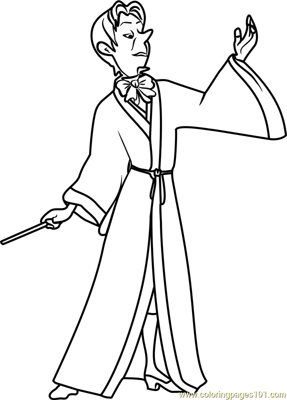 Mister Cedric Coloring Page Free