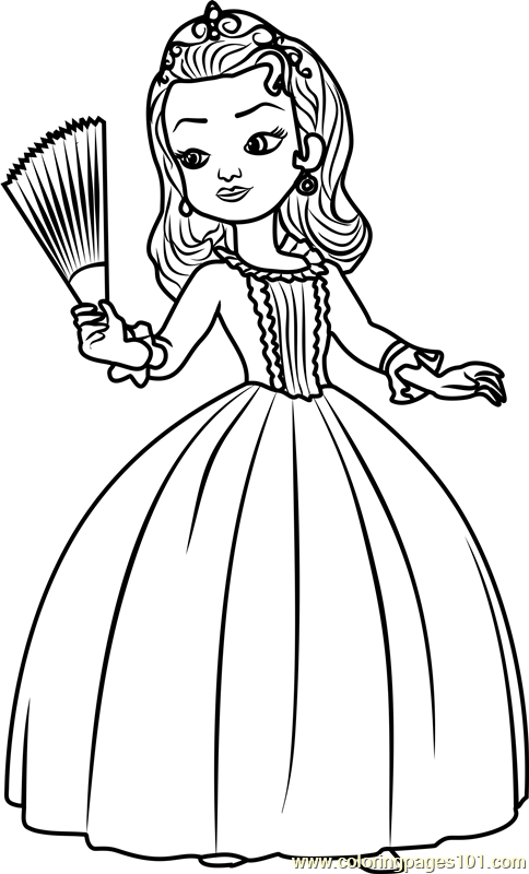 Princess Amber Coloring Page - Free Sofia the First ...
