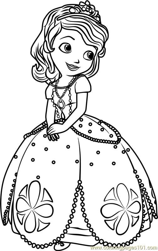 princess sofia coloring page free sofia the first coloring pages coloringpages101 com Disney Princess Coloring Pages  Princess Sofia Coloring Book