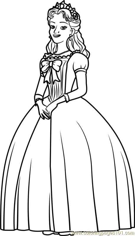 Queen Miranda  Coloring Page