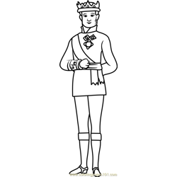 King Roland II Free Coloring Page for Kids