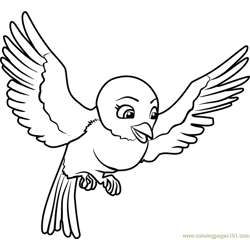 Mia Free Coloring Page for Kids