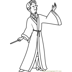 Mister Cedric Free Coloring Page for Kids
