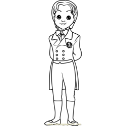 Prince James Free Coloring Page for Kids