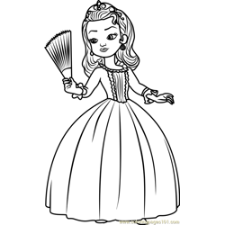 Princess Amber Free Coloring Page for Kids