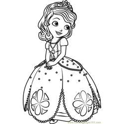 Princess Sofia Free Coloring Page for Kids