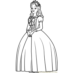 Queen Miranda  Free Coloring Page for Kids