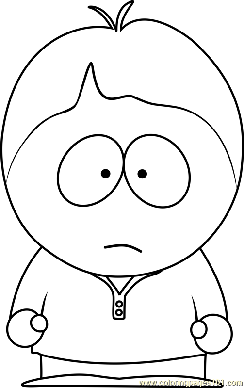 Bradley Biggle from South Park Coloring Page
