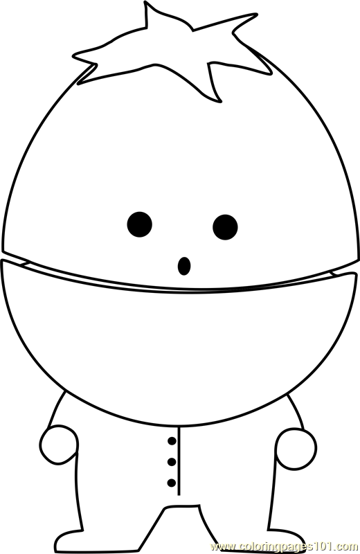 ike broflovski from south park coloring page - South Park Coloring Page