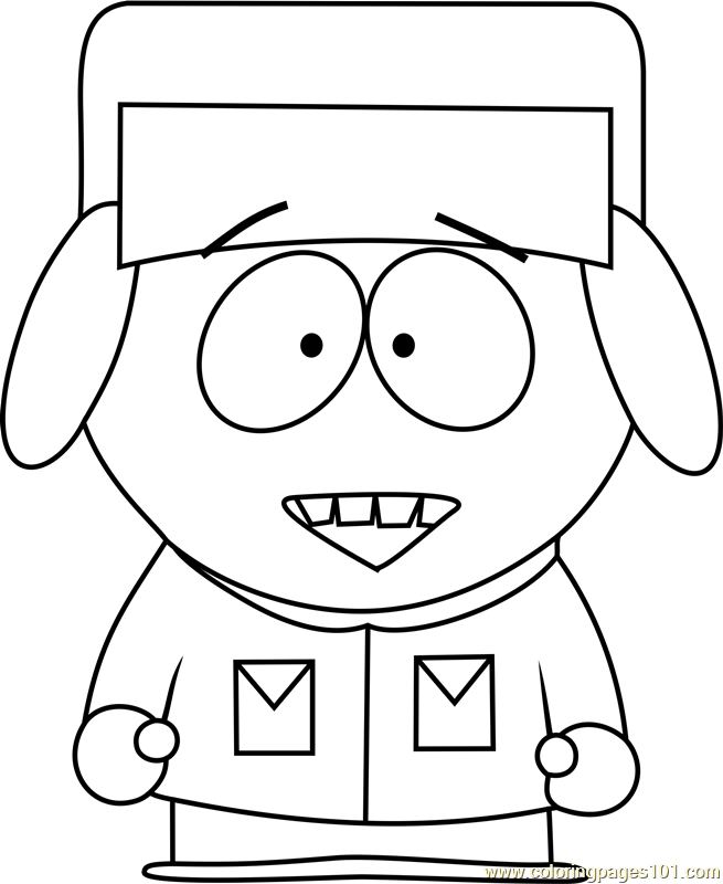 Kyle Broflovski from South Park Coloring Page