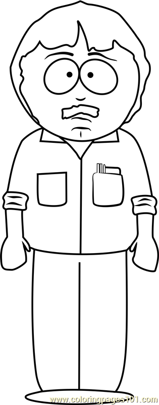Randy Marsh from South Park Coloring Page - Free South Park Coloring ...