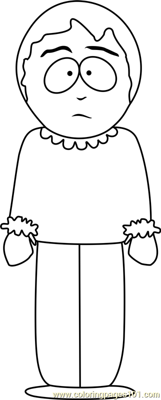Sharon Marsh from South Park Coloring Page