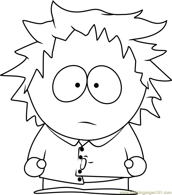 Tweek Tweak from South Park Coloring Page