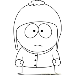 Craig Tucker from South Park Free Coloring Page for Kids