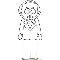 Gerald Broflovski from South Park Free Coloring Page for Kids