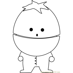 Ike Broflovski from South Park Free Coloring Page for Kids