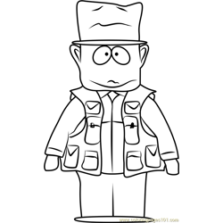 Jimbo Kern from South Park Free Coloring Page for Kids