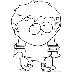 Jimmy Valmer from South Park Free Coloring Page for Kids