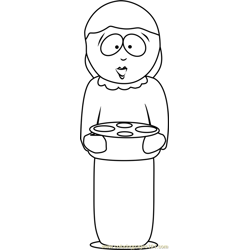 Liane Cartman from South Park Free Coloring Page for Kids