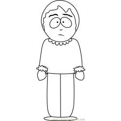 Sharon Marsh from South Park Free Coloring Page for Kids