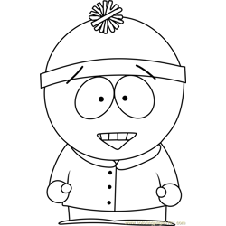 Stan Marsh from South Park Free Coloring Page for Kids